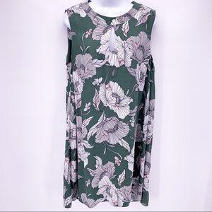Long Tall Sally Green Sleeveless Floral Mini Dress